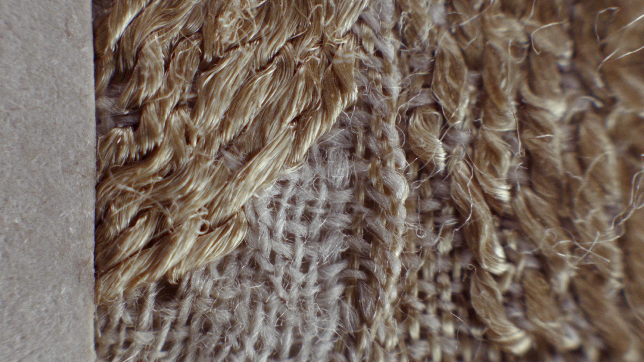 closeup of weaving pattern